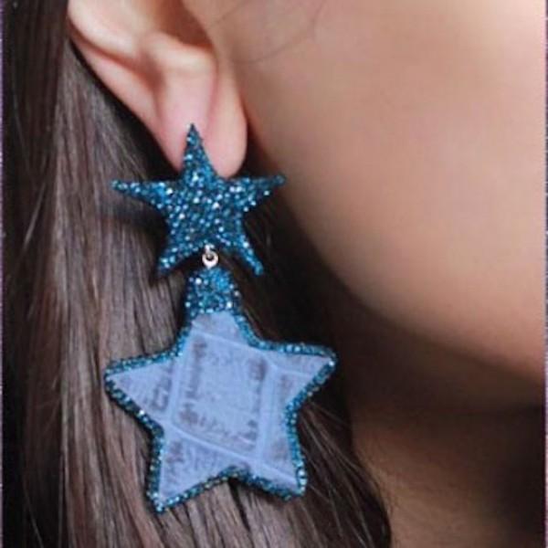 Swarovski yıldız küpe